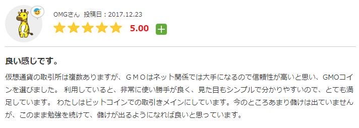 みん評 GMOコインの口コミ・評判